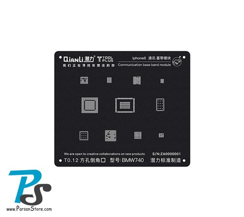 Stencil QiAnLi Base band IPhone6 BMW740